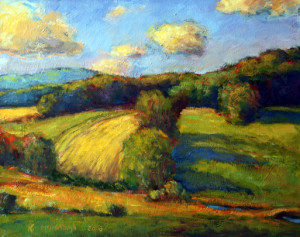 Haying The Steep Field  20 x 24   sold