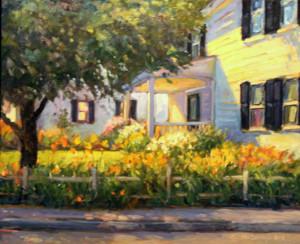 Sidewalk Lilies   22  x28   sold