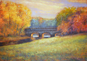 Stone Bridge-October   30 x 42   sold